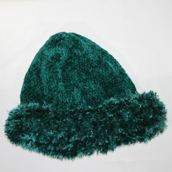 0a90380031b8e Accessories - Fluffy Soft Women s Green Hat with soft Cuff Fold